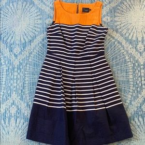 Just Taylor fit and flare pleated dress